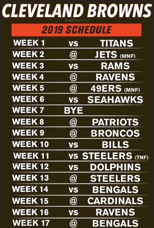Cleveland Browns 2020 Schedule.Cleveland Browns Wlec